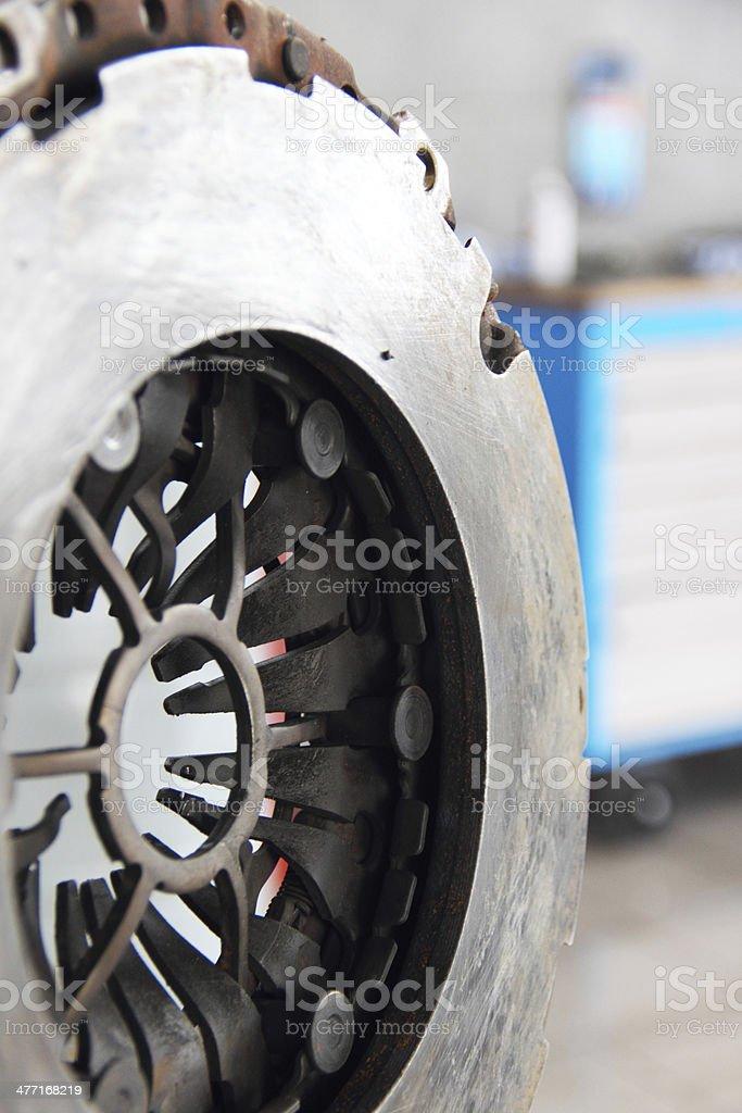 Manufacturing car clutch stock photo