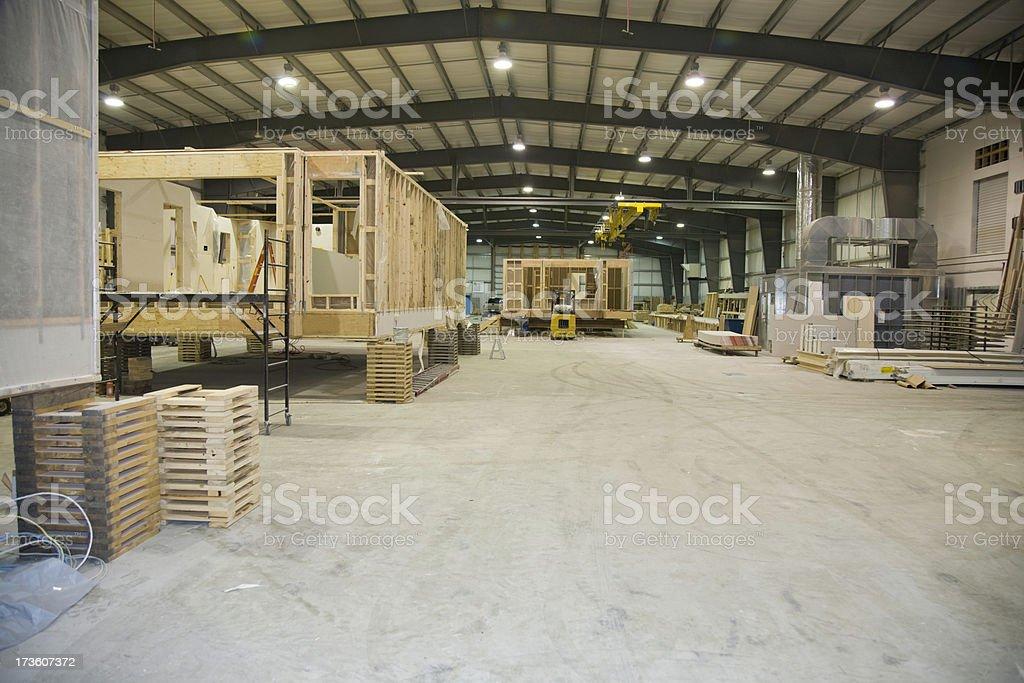 Manufacturing Modular Homes stock photo