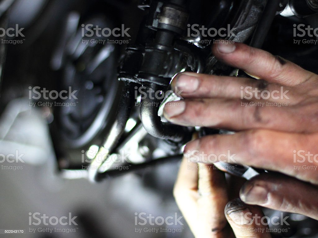 Manufacturing motor stock photo