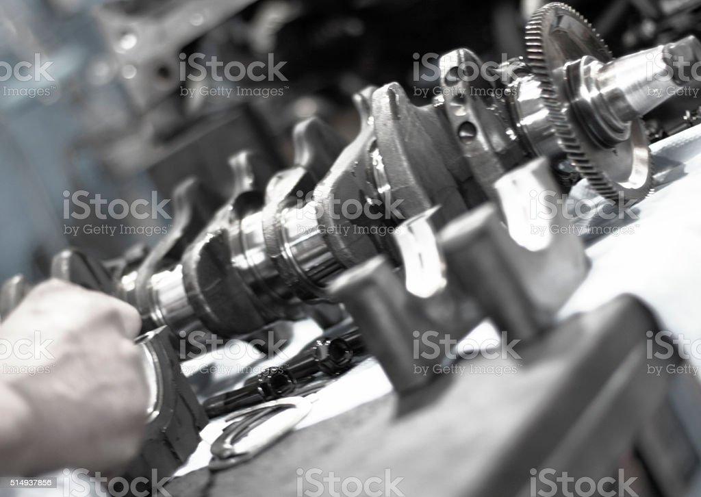 Manufacturing motors stock photo