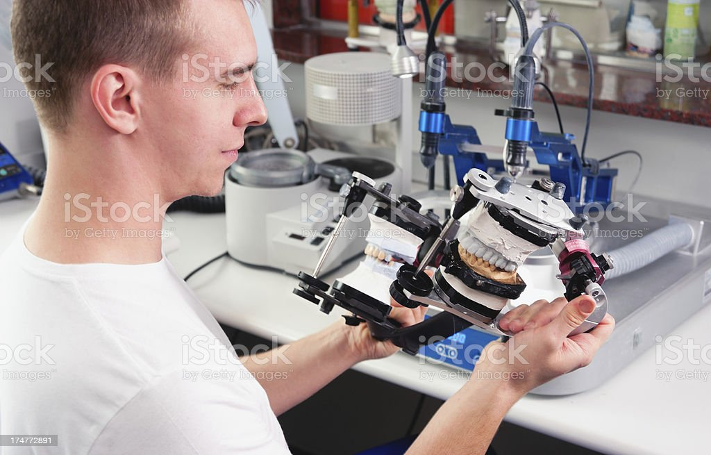 Manufacturing of Ceramic Crowns royalty-free stock photo