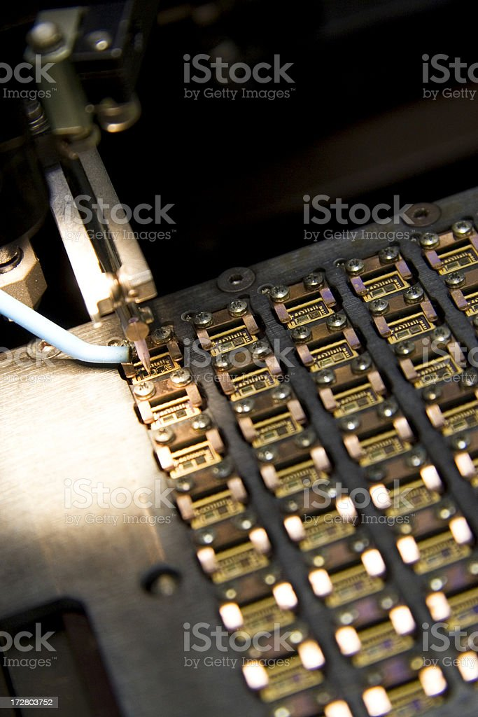 Manufacturing process stock photo