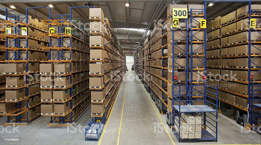 Manufacturing storage stock photo