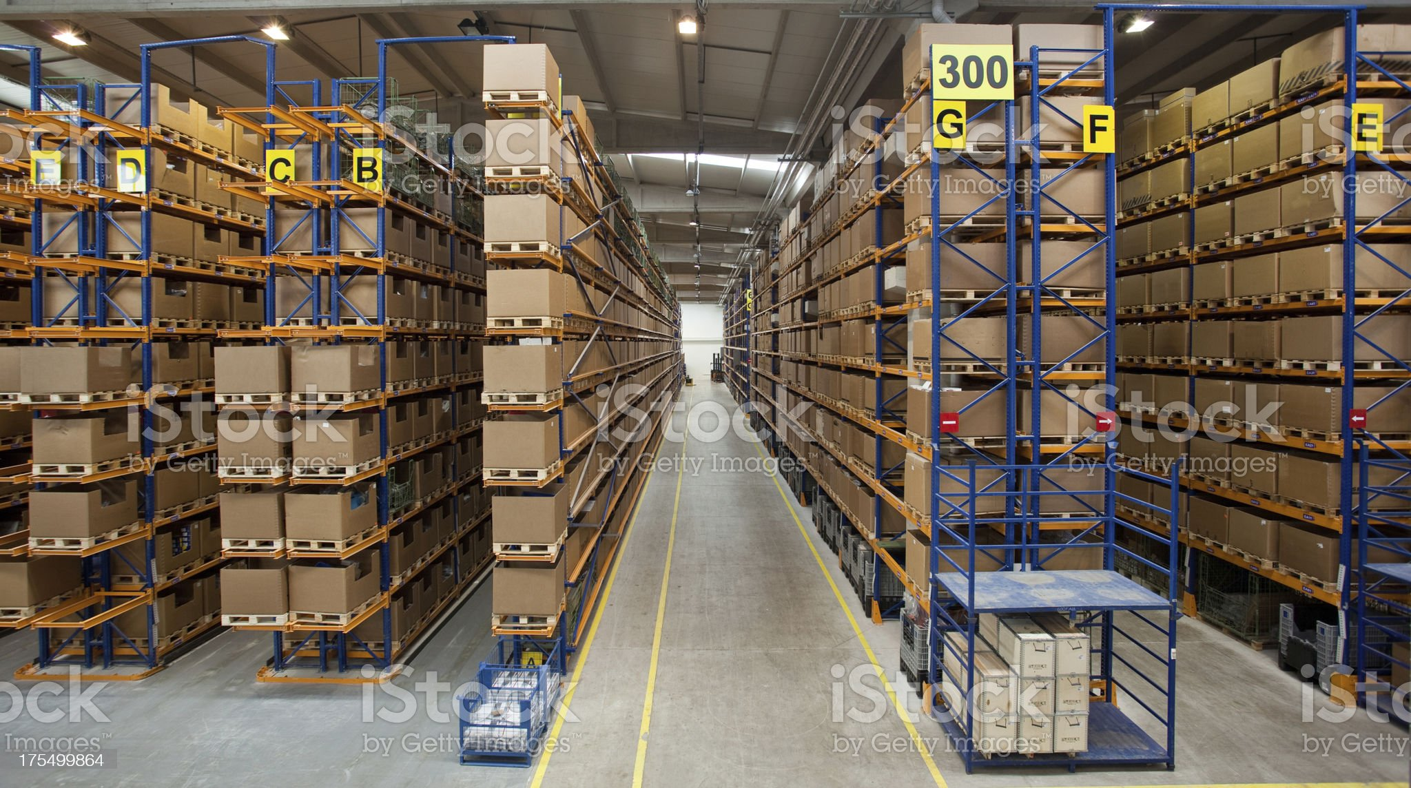 Manufacturing storage royalty-free stock photo