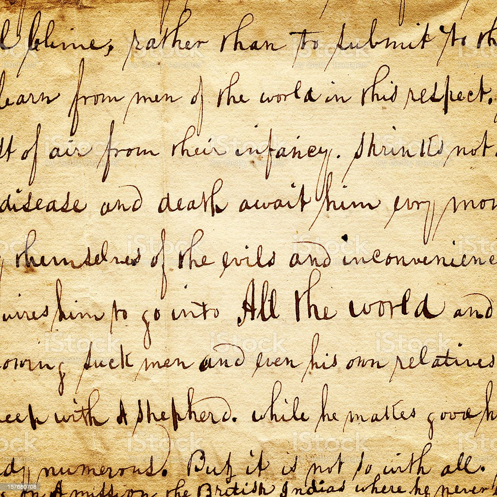 manuscript antique letter detail royalty-free stock photo