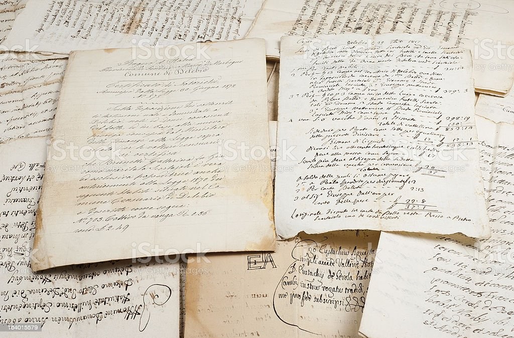 manuscripts stock photo
