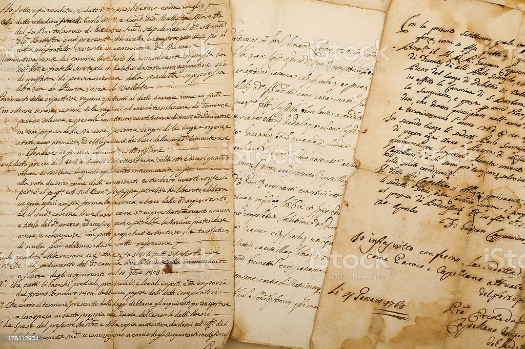 manuscripts royalty-free stock photo