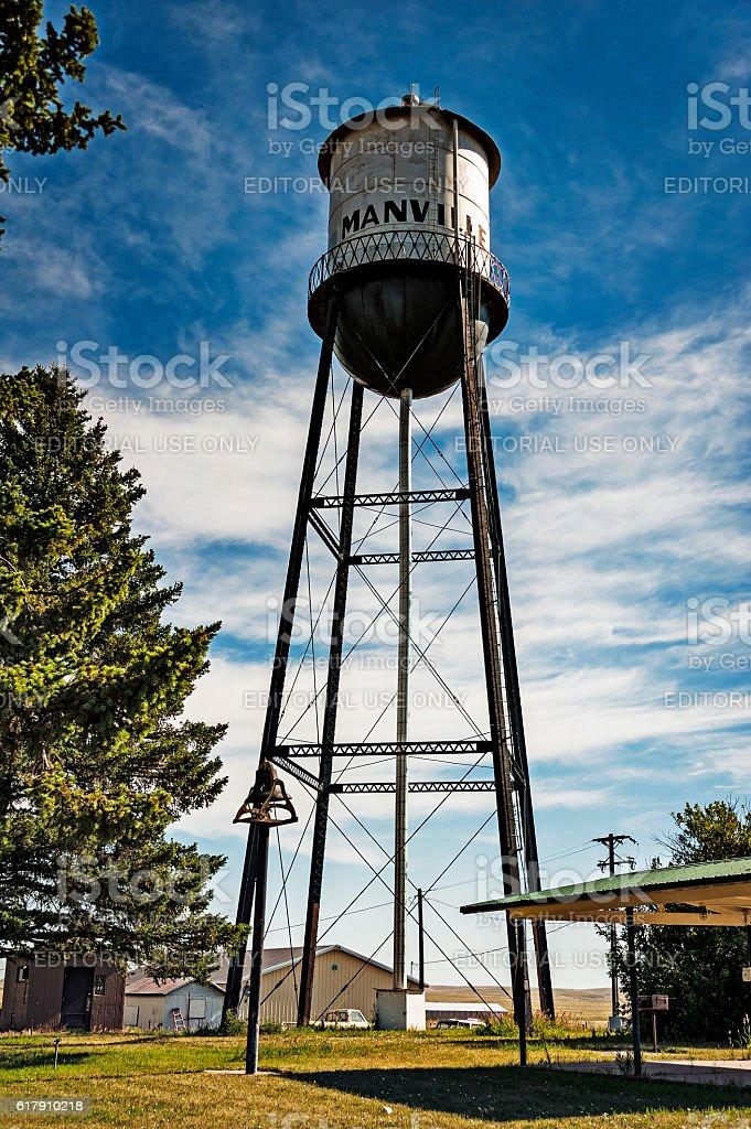Manville Wyoming Watertower stock photo