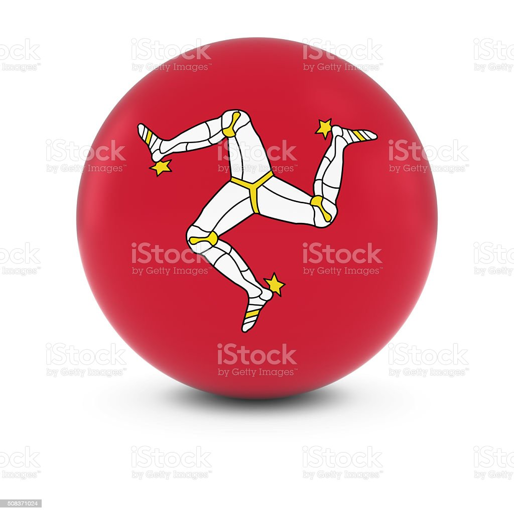 Manx Flag Ball - Flag of Isle of Man Sphere stock photo