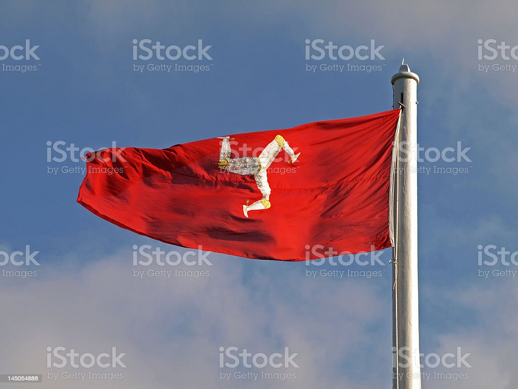 Manx flag - the Triskelion stock photo