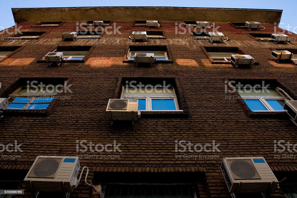 Many Air conditioner stock photo