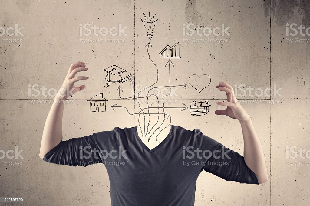 Many arrows with different stock photo