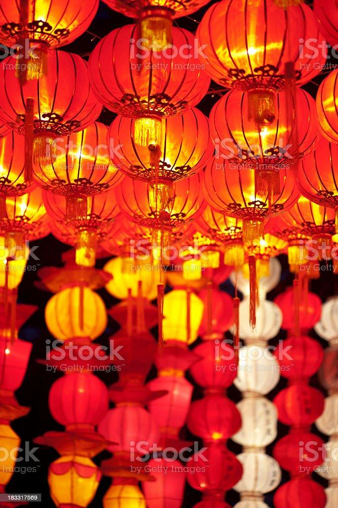 Many Asian Lanterns royalty-free stock photo