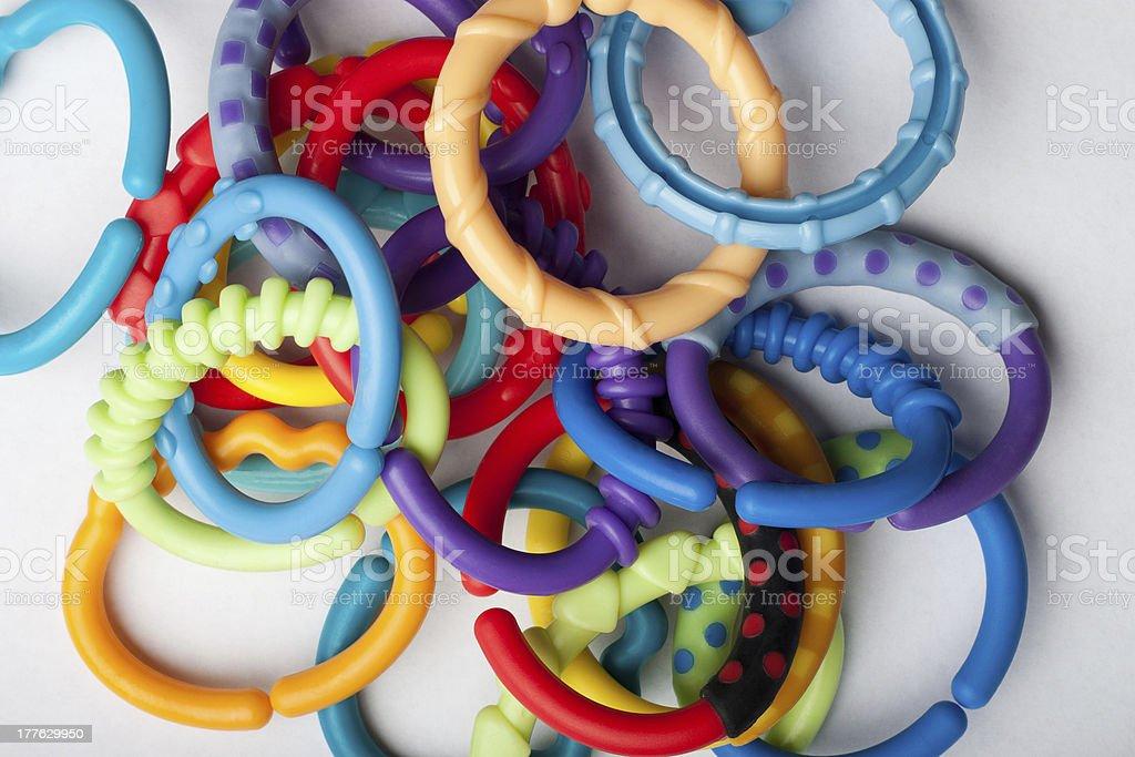 Many baby link toys royalty-free stock photo