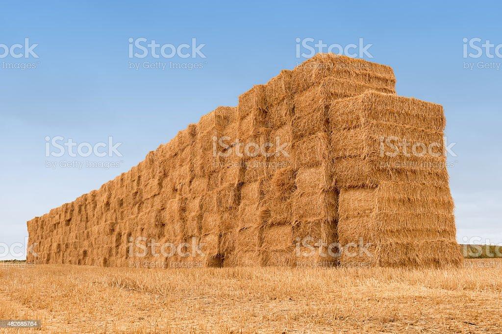 many balestraw stacked texture background stock photo