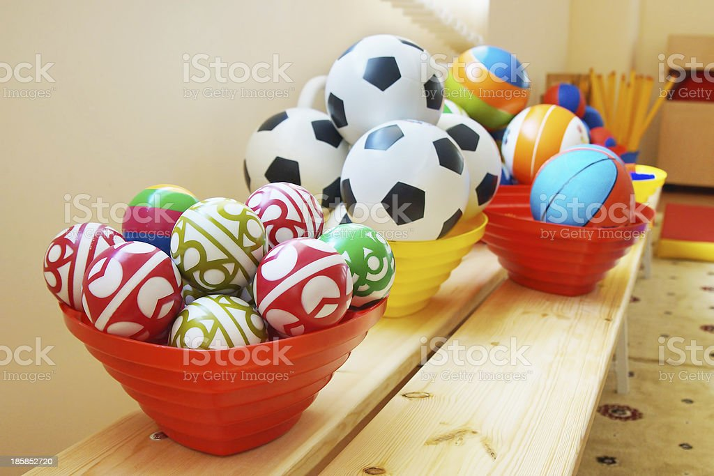 Many balls in a kindergarten royalty-free stock photo