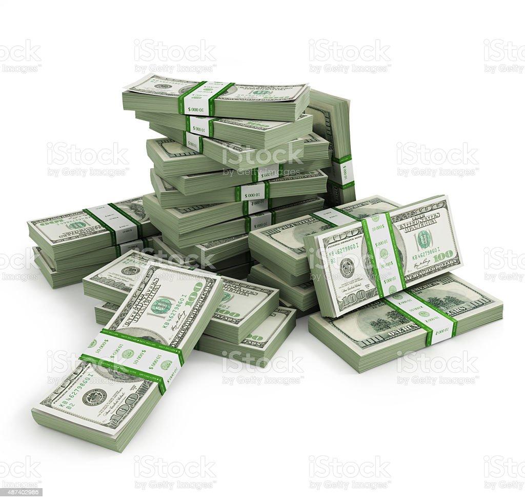 Many Bill stacks stock photo