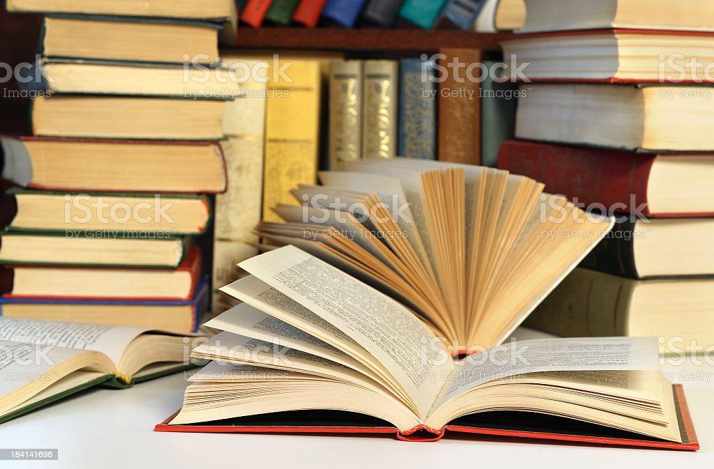 Many books royalty-free stock photo