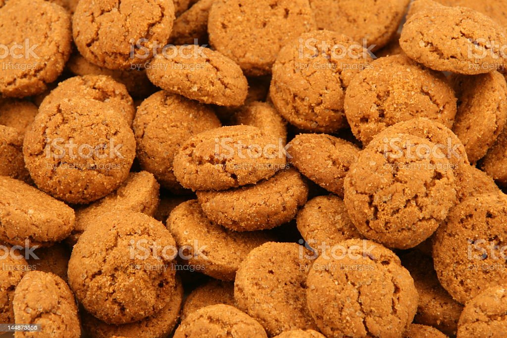 Many brown gingerbread cookies stock photo