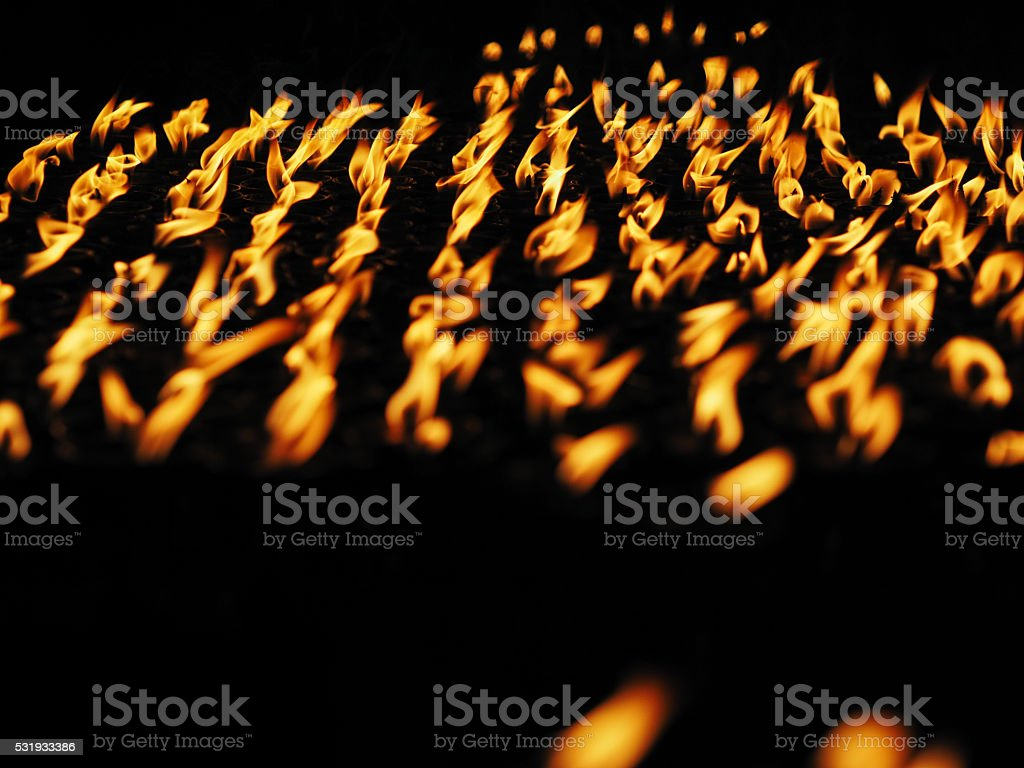 Many candle flames stock photo