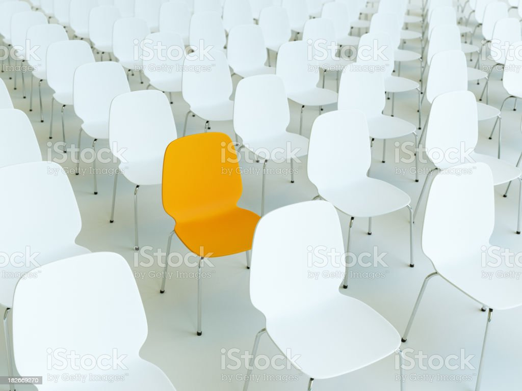 many chairs lined up royalty-free stock photo