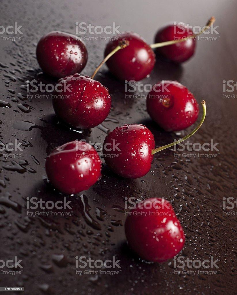 Many cherry royalty-free stock photo