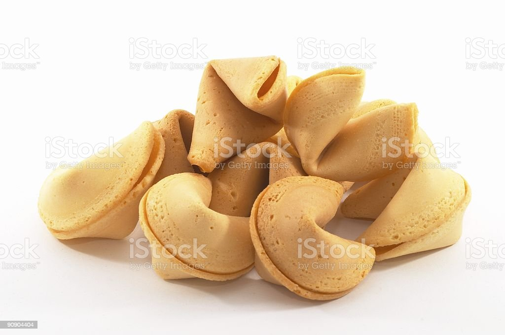 Many Chinese fortune cookies stock photo
