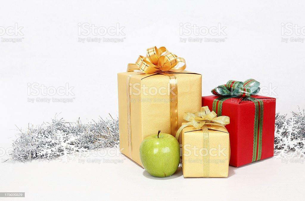 Many Christmas presents royalty-free stock photo