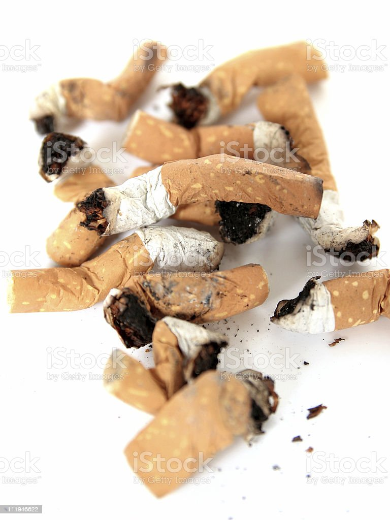 many cigaretts royalty-free stock photo