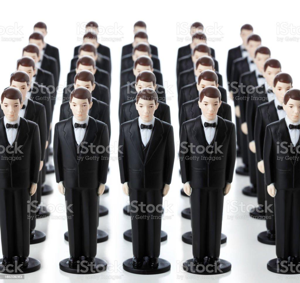 Many Clones royalty-free stock photo