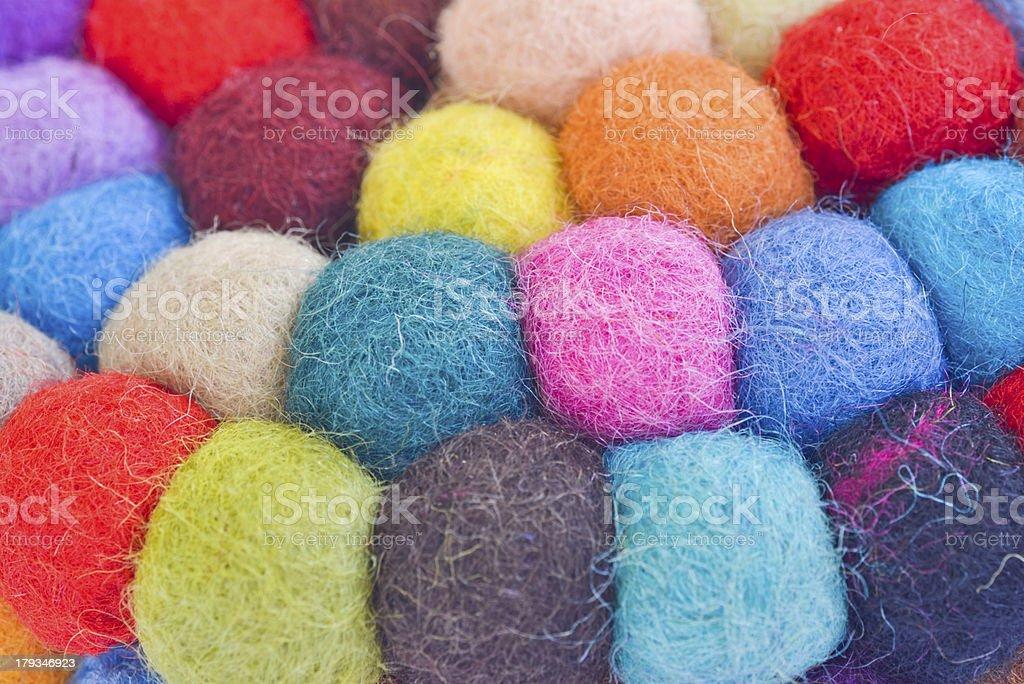 many colorful yarn balls royalty-free stock photo