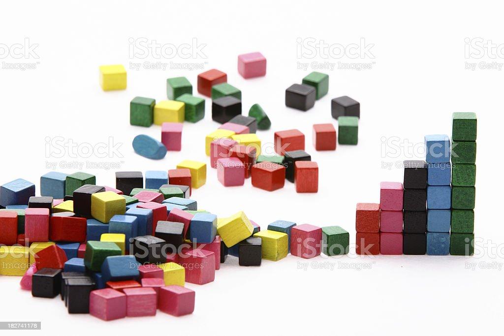 many colour building blocks royalty-free stock photo