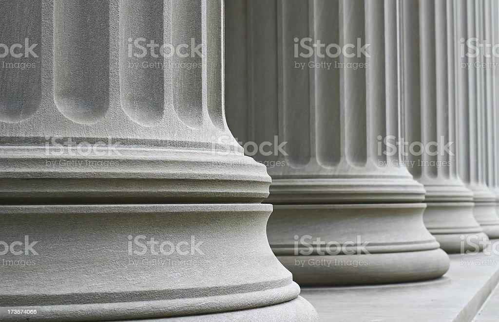 Many Columns royalty-free stock photo