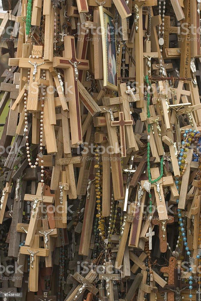 Many crosses stock photo