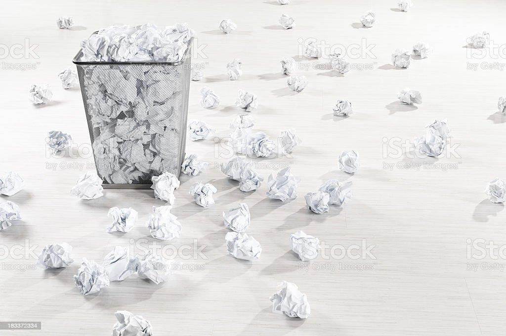 Many crumpled paper balls royalty-free stock photo