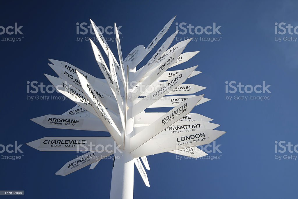 Many destinations royalty-free stock photo