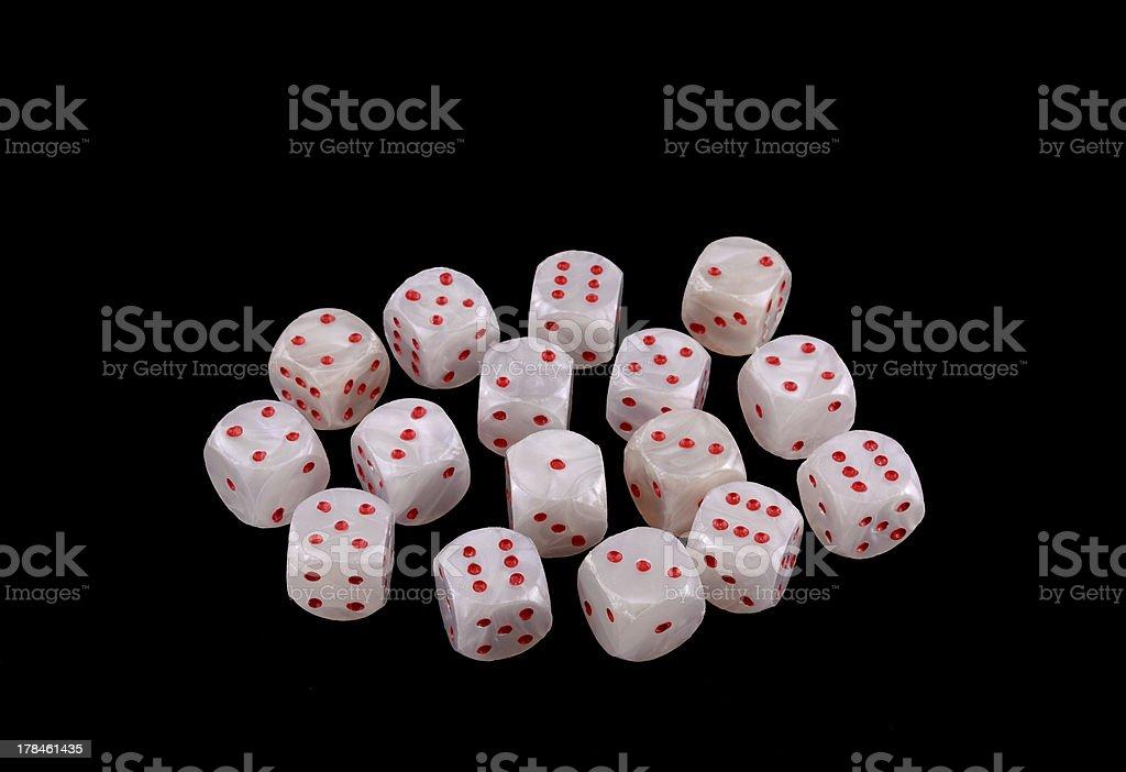 Many dice royalty-free stock photo