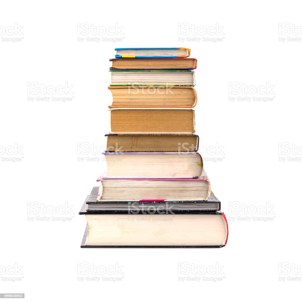 many different books stock photo