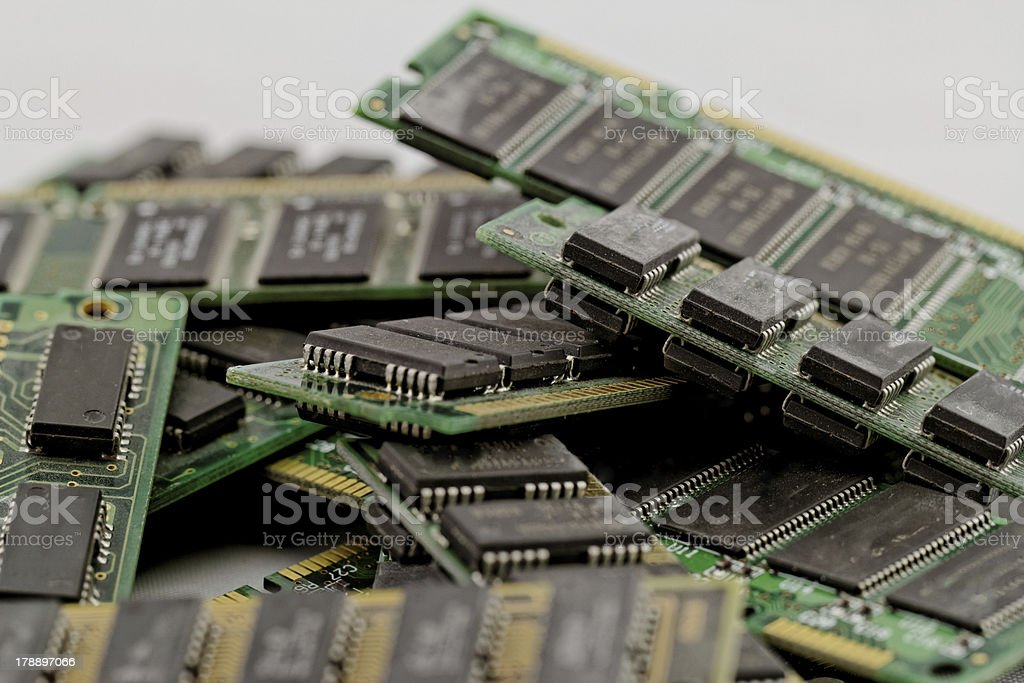 Many different computer memory modules royalty-free stock photo