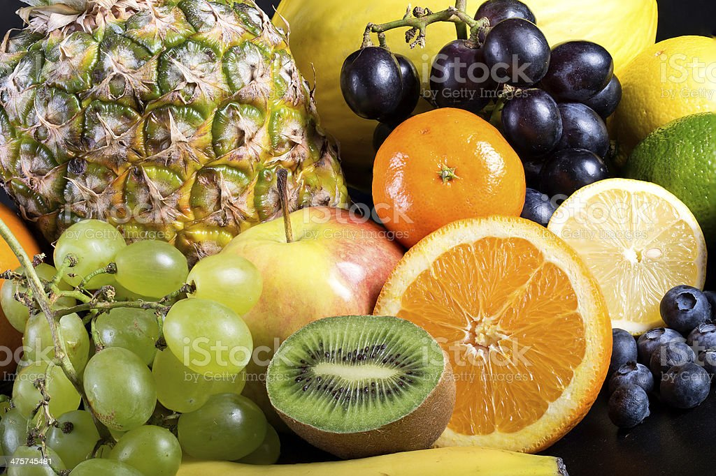 Many different exotic fruits royalty-free stock photo