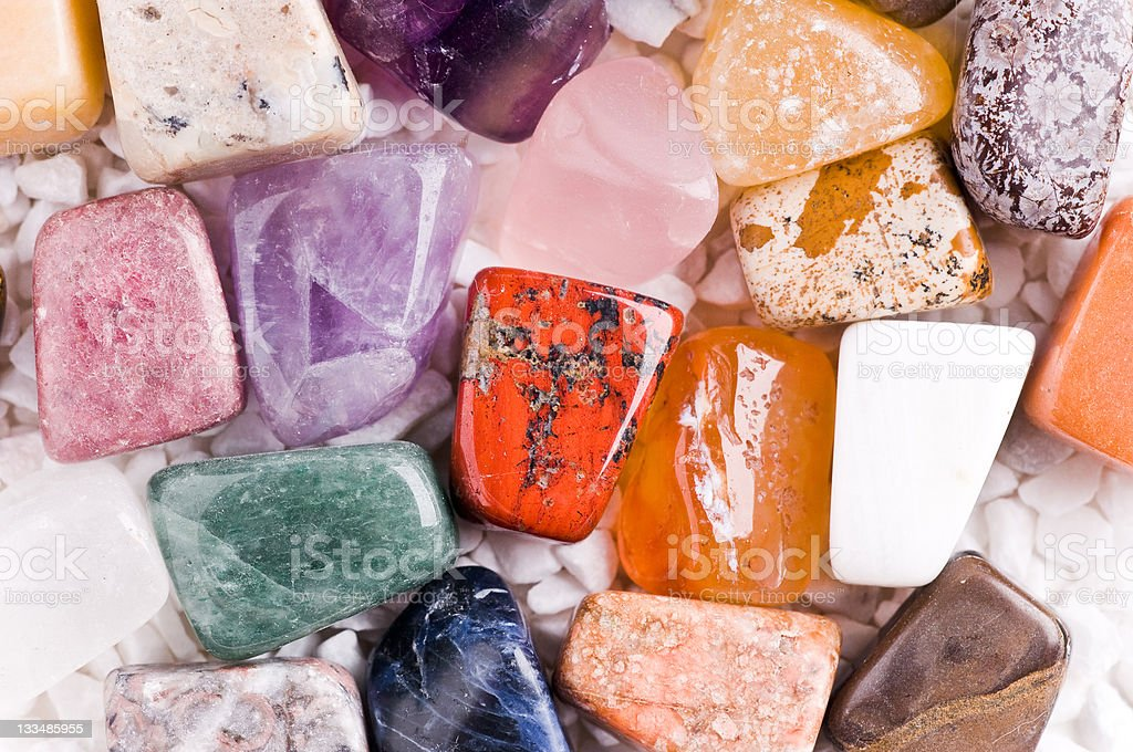 many different natural stones stock photo
