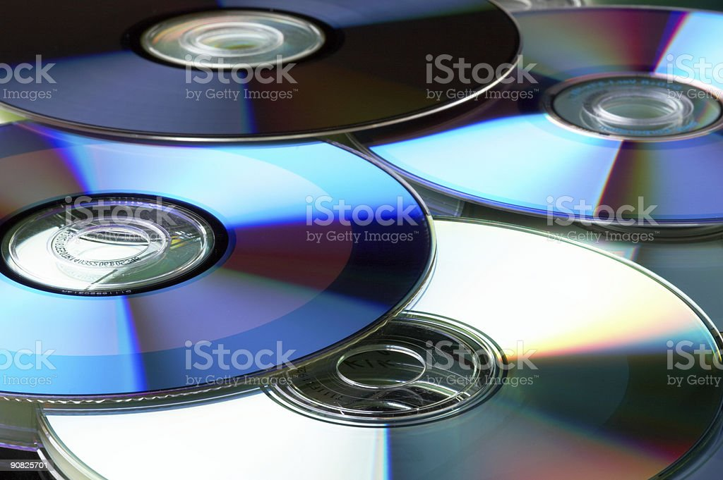 Many DVD stock photo