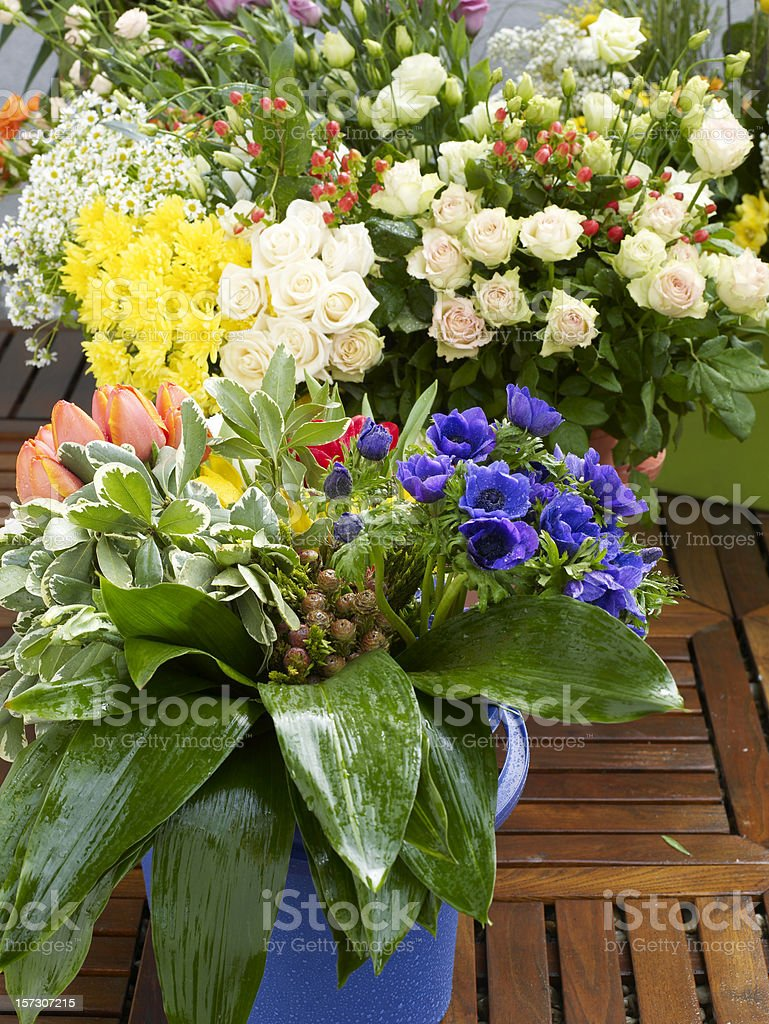 Many flowers bouquets royalty-free stock photo