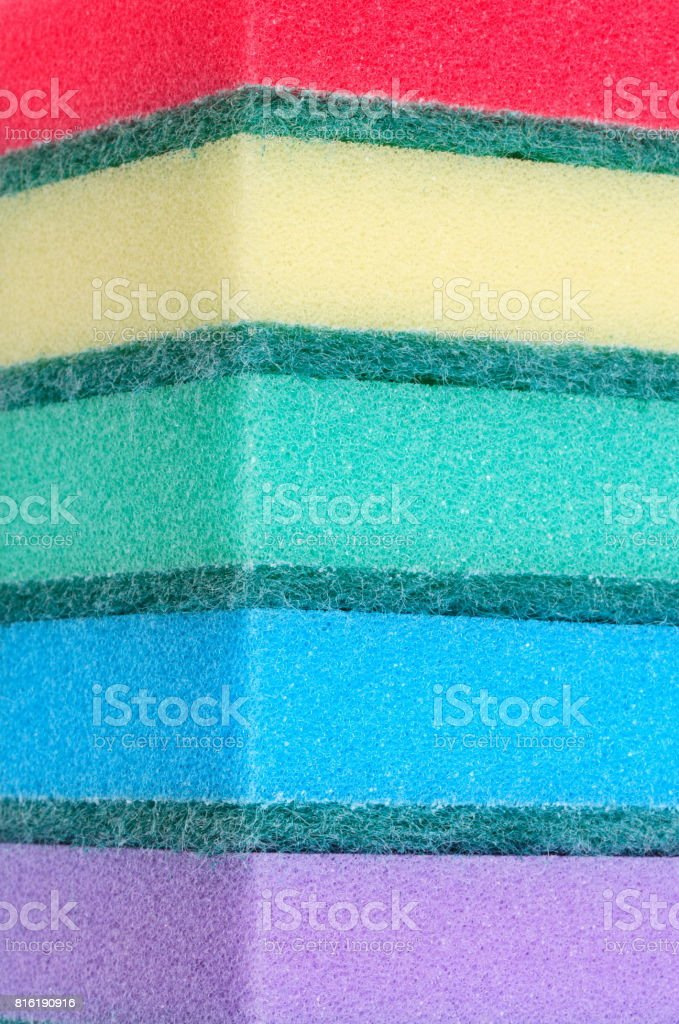 many foam rubber  sponge stock photo