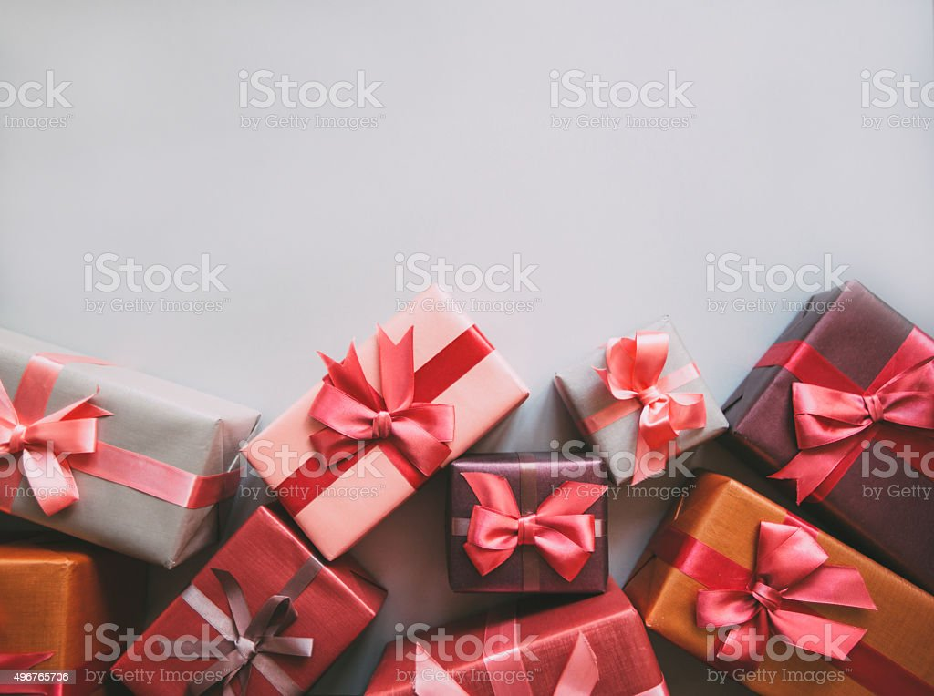 Many gifts. stock photo