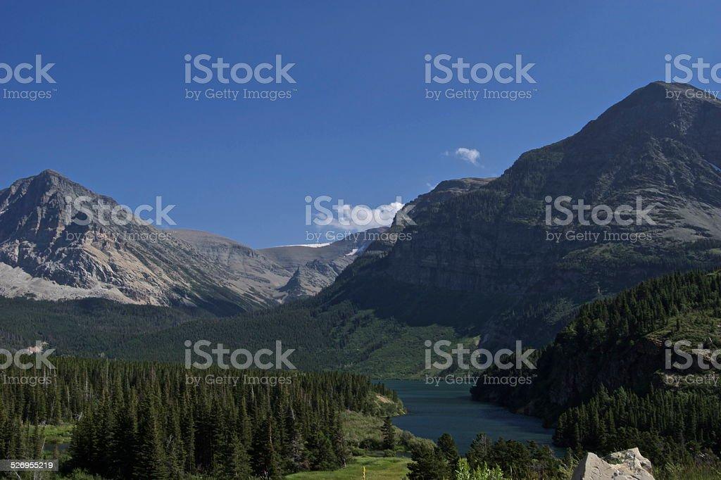 Many Glacier Area stock photo
