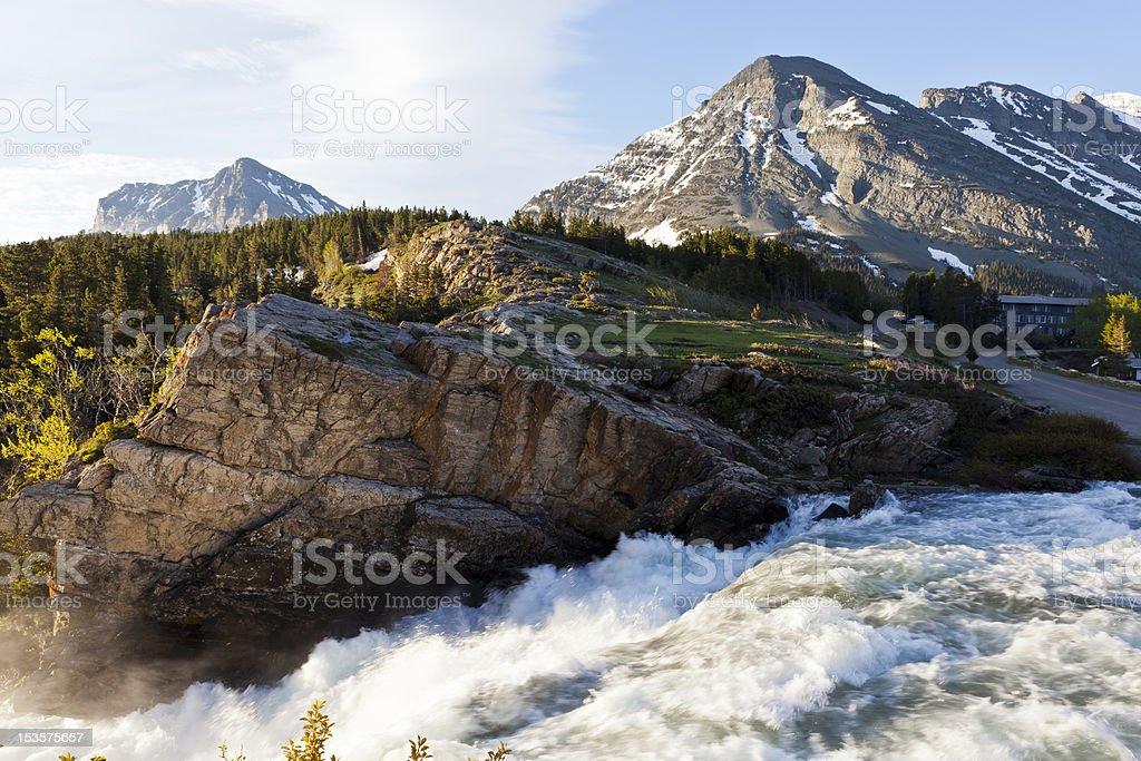Many Glacier, Montana stock photo