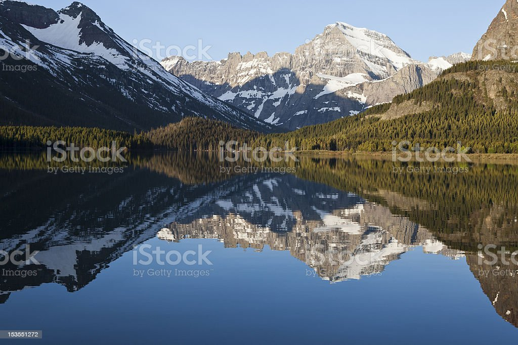 Many Glacier royalty-free stock photo