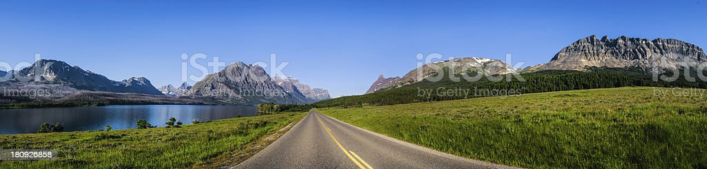 Many Glaciers National Park royalty-free stock photo