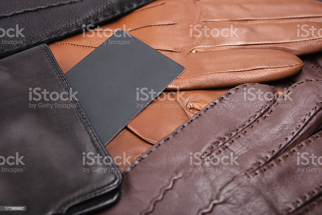 many gloves close up with label royalty-free stock photo